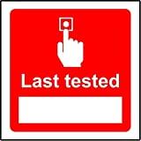 BCTS Señal de seguridad con alarma de incendios de última prueba, divertida señal de metal, diseño de tráfico, 30,4 x 30,5 cm