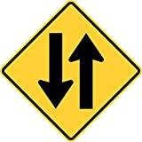 Señal de tráfico de Dos vías, Letrero de Metal para la Propiedad privada, señal de Seguridad contra Peligro, señal de Puerta, 8 x 12 Pulgadas