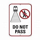 Señal de Advertencia de tráfico de Metal con Texto en inglés «Do Not Pass» Estilo 1, señal de Propiedad privada, decoración del hogar, 8 x 12 Pulgadas