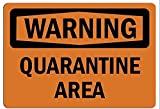 Señal de área de cuarentena aviso de peligro de tráfico callejero de advertencia de peligro de tráfico de la calle, duradero, vintage, decoración de pared artística