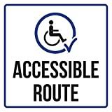 BCTS Accessible Route Disability Señal Cuadrada de Seguridad Comercial Divertida Señal Metálica Cruzando Tráfico Novedad Cuadrado Cartel Cuadrado 30,4 x 30,5 cm
