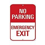 Vivityobert Signo de Aluminio Emergencia, Salida de tráfico, señal de Advertencia de Metal, Novedad de Seguridad, Advertencia de Advertencia para decoración de la Pared de la casa 8 x 12