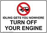 Señal de advertencia de tráfico de seguridad inglesa de metal, señal privada, valla de jardín, 20 x 30 cm
