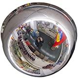 Espejo de techo profesional panorámico de 360 grados, espejo de observación, espejo de seguridad, espejo de control, 80 cm, no más tornillos molestos.