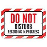 Do not disturb grabación en curso 9x 6aluminio señal de Metal Signs Vintage señales de tráfico placas de lata Signs placa decorativa