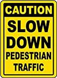 Señal de Advertencia de tráfico de peatones, Letrero de Metal para la Propiedad privada, Placa de Seguridad contra peligros, señal de Puerta, 8 x 12 Pulgadas