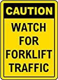 Reloj de precaución para señal de tráfico de Carretilla elevadora, Letrero de Metal para Propiedad privada, Placa de Seguridad contra Peligro, señal de Puerta, 8 x 12 Pulgadas