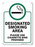 Zona de fumadores signo señal de aluminio grande para 10x 14metal signs vintage señales de tráfico placas de lata Signs placa decorativa