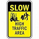 Señal de Advertencia de área de tráfico Lento de Metal, señal de Propiedad privada, decoración del hogar de Metal estaño, 8 x 12 Pulgadas