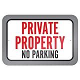 Propiedad Privada prohibido aparcar 9x 6aluminio señal de Metal Signs Vintage señales de tráfico placas de lata Signs placa decorativa