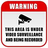 BCTS Warning 24 Hour Video Vigilancia Window Decal Cctv Señal de Seguridad Divertida Señal de Metal Cruzando Tráfico Novedad Cartel Cuadrado 30,4 x 30,5 cm