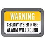 Sistema de seguridad advertencia en uso alarma sonará 9x 6aluminio señal de Metal Signs Vintage señales de tráfico placas de lata Signs placa decorativa