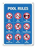 Piscina señales–Pool Rules Sign con Graphics- grande 10x 14aluminio signos de Metal Sign Vintage lata de señales de tráfico placas signs placa decorativa