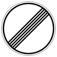 Señales de fin de prohibición o restricción
